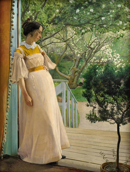 Laurits Andersen Ring Painting - The Artist's Wife by Laurits Andersen Ring