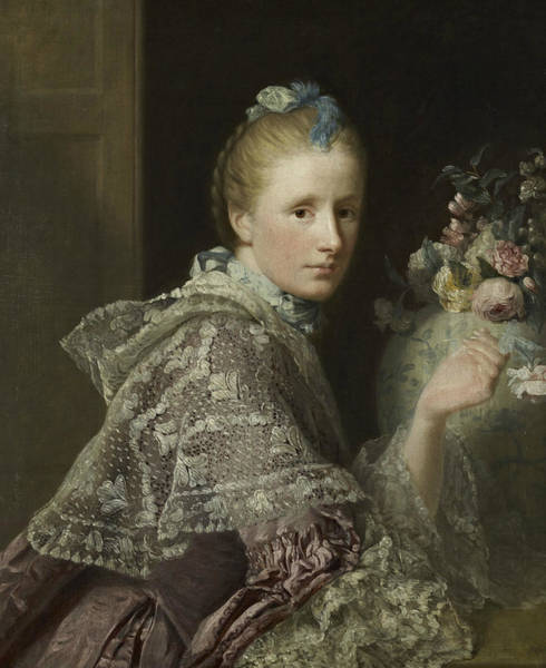 Painting - The Artist's Wife- Margaret Lindsay Of Evelick by Allan Ramsay