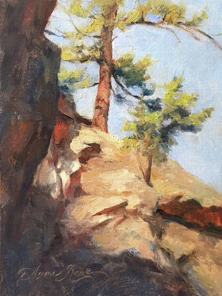 Colorado Landscape Painting - The Ascent by Anna Rose Bain