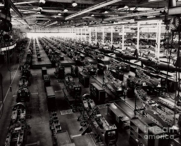 Photograph - The Assembly Plant Of The Bell Aircraft Corporation In 1944 by Doc Braham