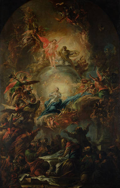 Ascension Painting - The Assumption by Johann Christoph Lischka
