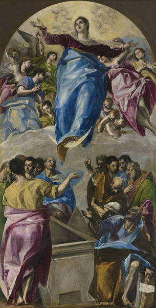 Wall Art - Painting - The Assumption Of The Virgin by El Greco