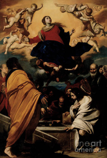 Ascension Painting - The Assumption Of The Virgin by Massimo Stanzione