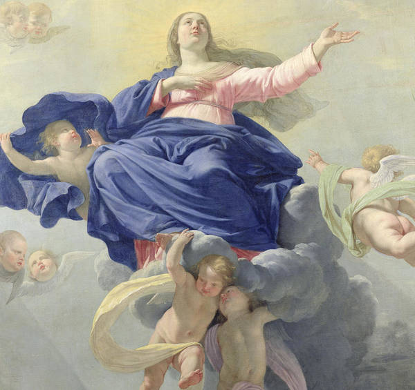Raising Wall Art - Painting - The Assumption Of The Virgin by Philippe de Champaigne