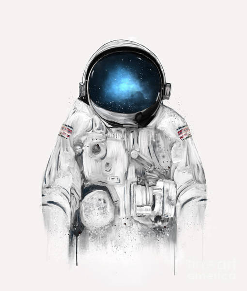 Wall Art - Painting - The Astronaut by Bri Buckley