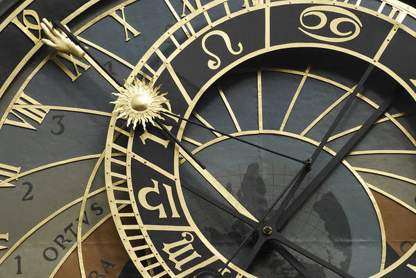 Wall Art - Photograph - The Astronomical Clock In Prague by Liz Pinchen