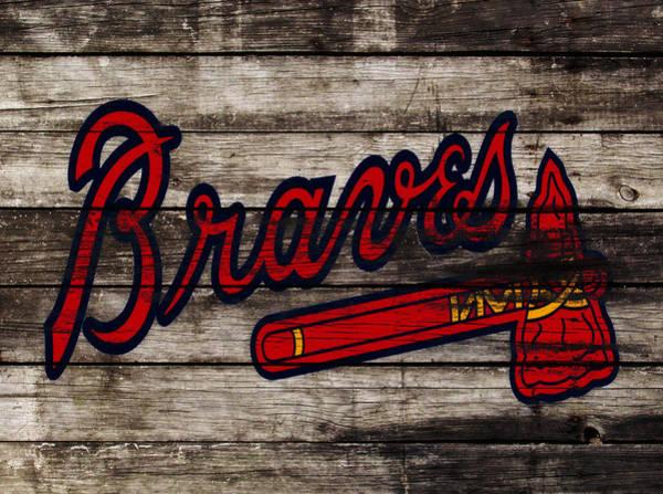 Wall Art - Mixed Media - The Atlanta Braves 3h    by Brian Reaves