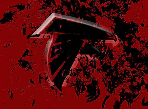 Atlanta Falcons Mixed Media - The Atlanta Falcons 1e by Brian Reaves