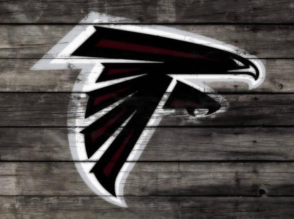 Wall Art - Mixed Media - The Atlanta Falcons 3e by Brian Reaves