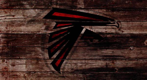 Atlanta Falcons Mixed Media - The Atlanta Falcons W1 by Brian Reaves