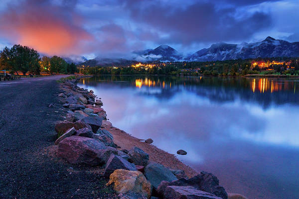 Photograph - The Atmosphere Of Blue Hour by John De Bord