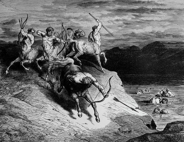 Charcoal Drawing Photograph - The Attack Of The Centaurs by Douglas Barnett