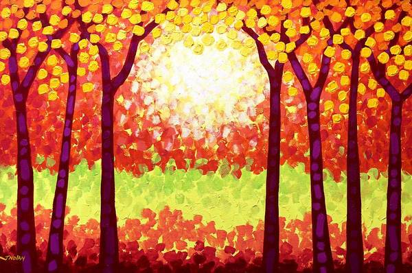 Wall Art - Painting - The Autumn Leaves by John  Nolan