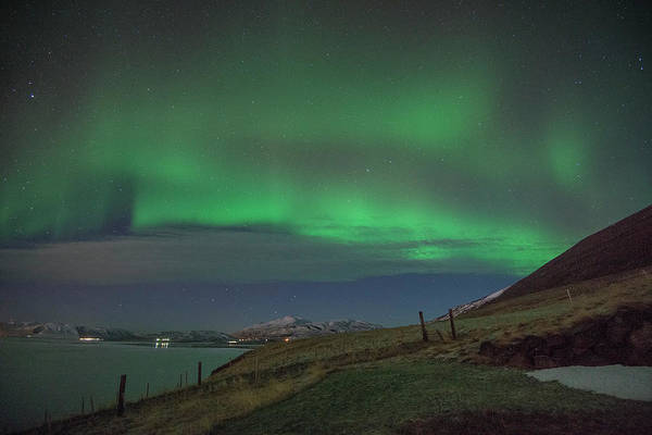 Photograph - The Aurora Borealis Over Iceland by Matt Swinden