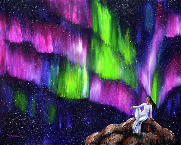 Tara Painting - The Aurora Of Compassion by Laura Iverson