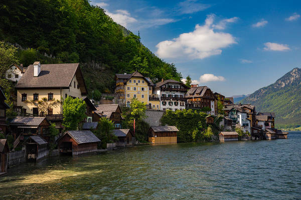 Wall Art - Photograph - The Austrian Village Of Hallstatt by Bridget Calip