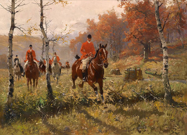 Artistry Painting - The Autumn Hunt by Mountain Dreams