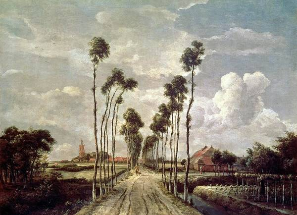 Ditch Painting - The Avenue At Middelharnis by Meindert Hobbema
