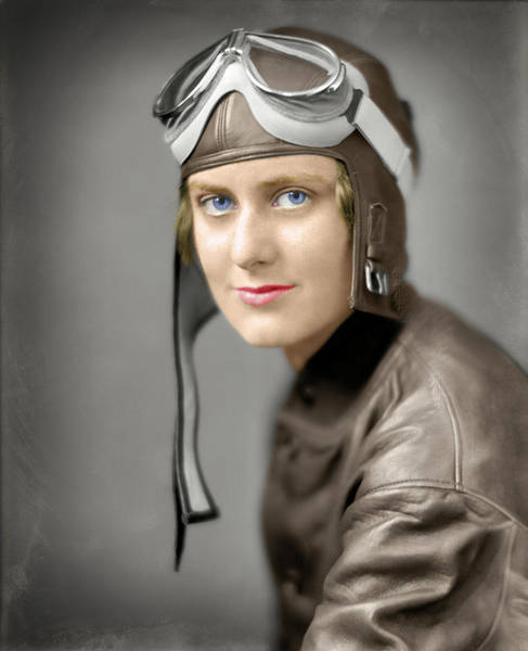 Capable Photograph - The Aviatrix  1920 by Daniel Hagerman