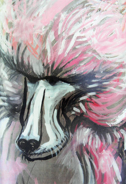 Pink Drawing - The Baboon   by Marian Voicu