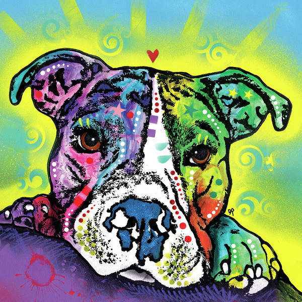 Painting - The Baby Pit Bull by Dean Russo Art