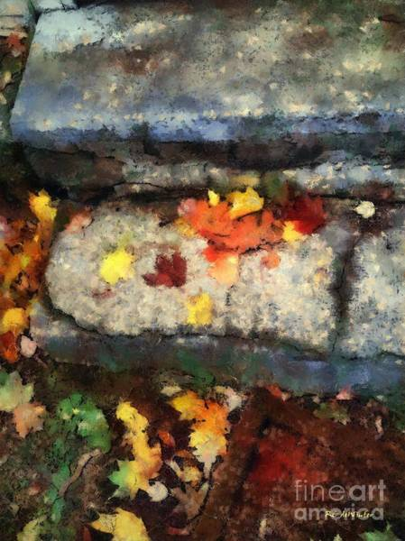 Painting - The Back Step by RC DeWinter