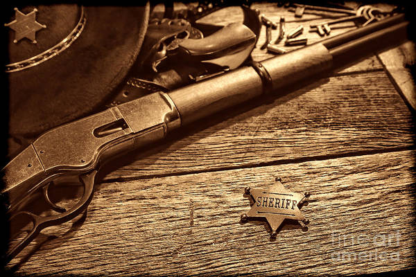 Photograph - The Badge by American West Legend By Olivier Le Queinec