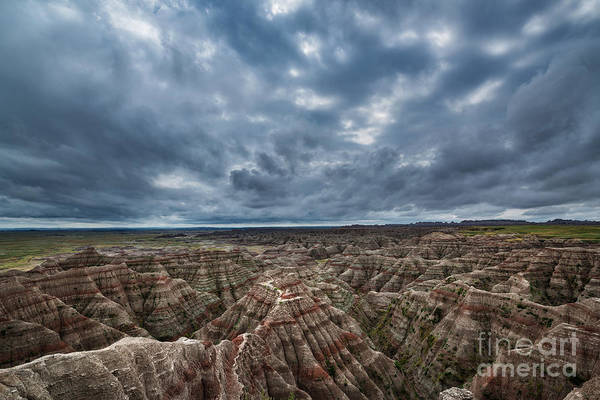 Fire In The Sky Wall Art - Photograph - The Badlands by Michael Ver Sprill