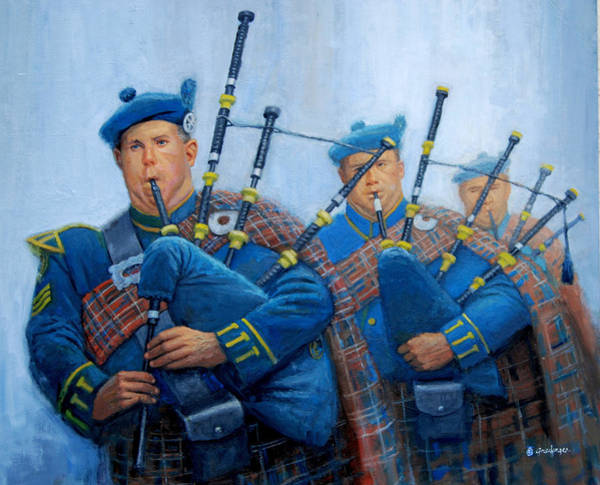 Painting - The Bagpipers by Mel Greifinger