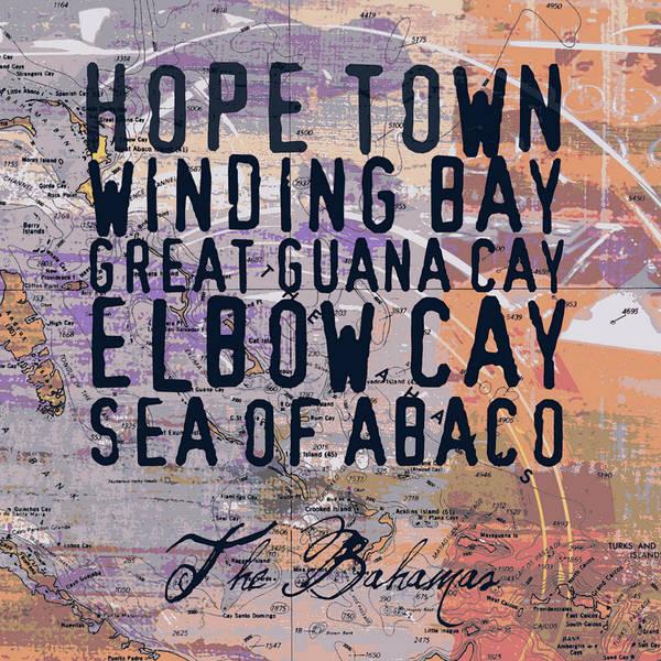 Town Square Digital Art - The Bahamas by Brandi Fitzgerald