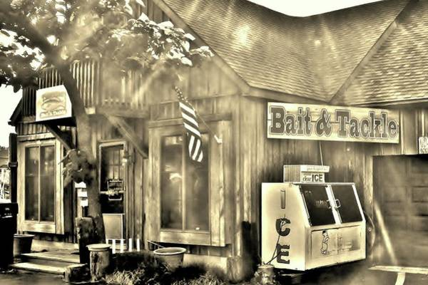 Photograph - The Bait And Tackle Shop by Kim Bemis