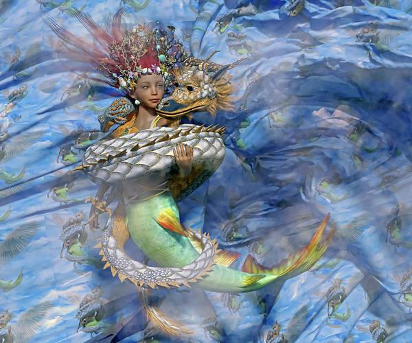 Serpent Digital Art - Beauty And The Beast by Betsy Knapp
