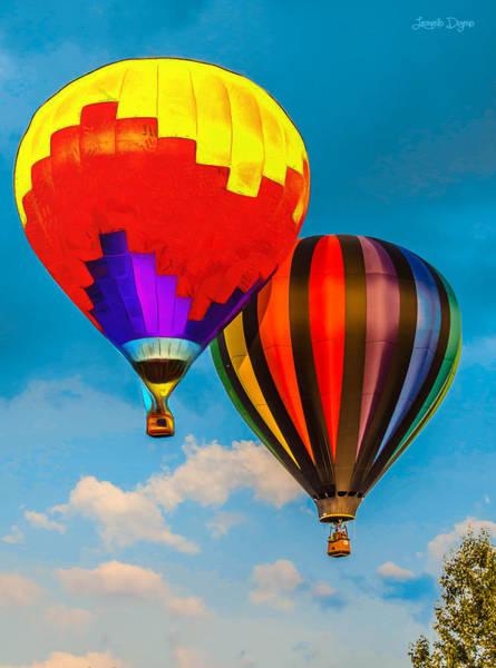 Balloon Festival Digital Art - The Balloon Duet - Da by Leonardo Digenio