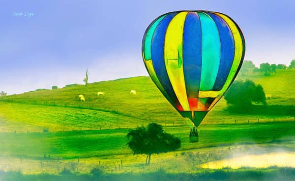 Eating Mixed Media - The Balloon In The Farm - Mm by Leonardo Digenio