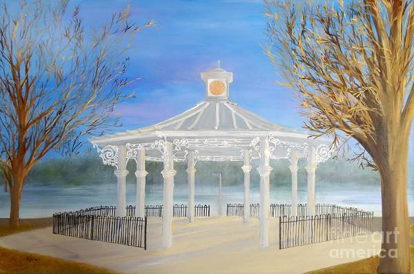 Painting - The Bandstand Basingstoke War Memorial Park by Karen Jane Jones