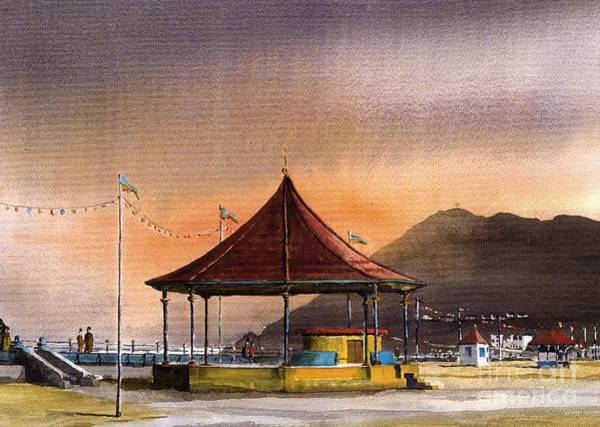 Painting - The Bandstand On Bray Promenade by Val Byrne