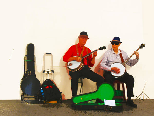 Photograph - The Banjo Dudes by Susan Vineyard