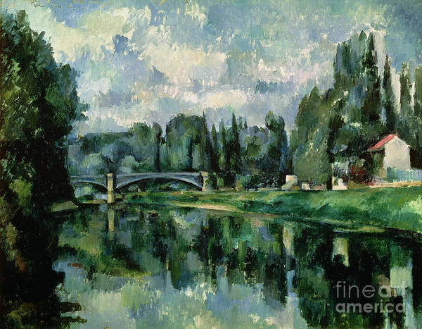 River Bank Painting - The Banks Of The Marne At Creteil by Paul Cezanne