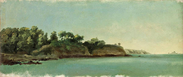 Wall Art - Painting - The Banks Of The Rance. Brittany by Pierre-Henri de Valenciennes