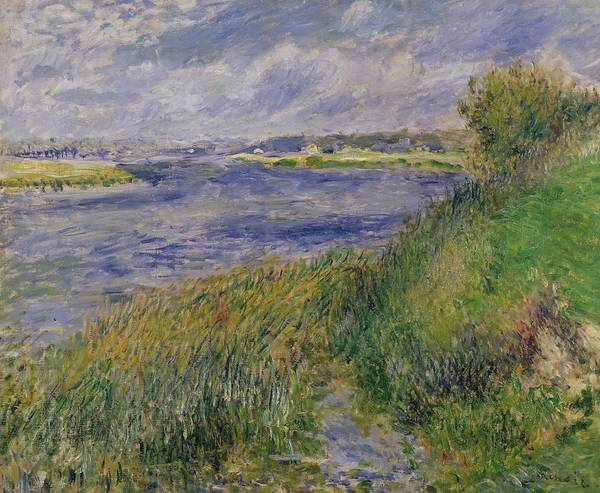 Wall Art - Painting - The Banks Of The Seine Champrosay by Pierre Auguste Renoir