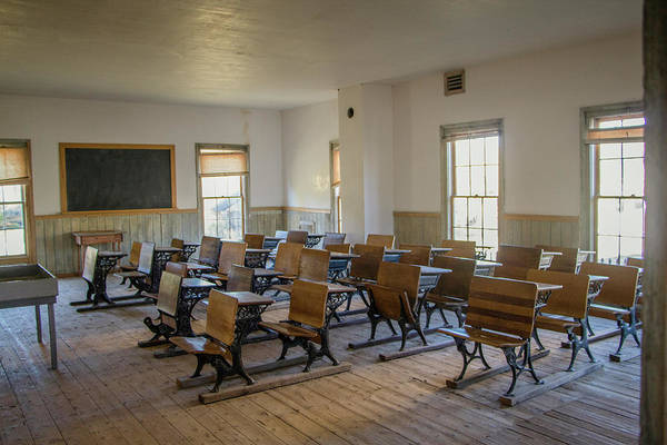 Photograph - The Bannack Schoolroom by Teresa Wilson