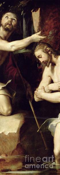 Wall Art - Painting - The Baptism Of Christ  by Cornelis Cornelisz van Haarlem