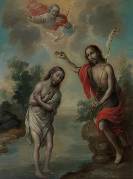 Painting - The Baptism Of Christ by Nicolas Enriquez