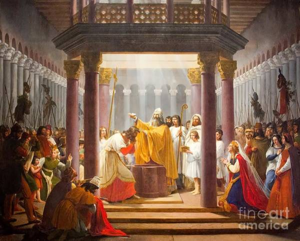 Clovis Painting - The Baptism Of Clovis  by MotionAge Designs