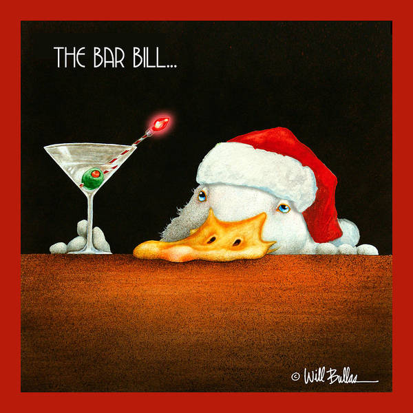Painting - The Bar Bill... by Will Bullas