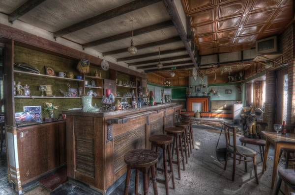Dilapidation Wall Art - Digital Art - The Bar by Nathan Wright