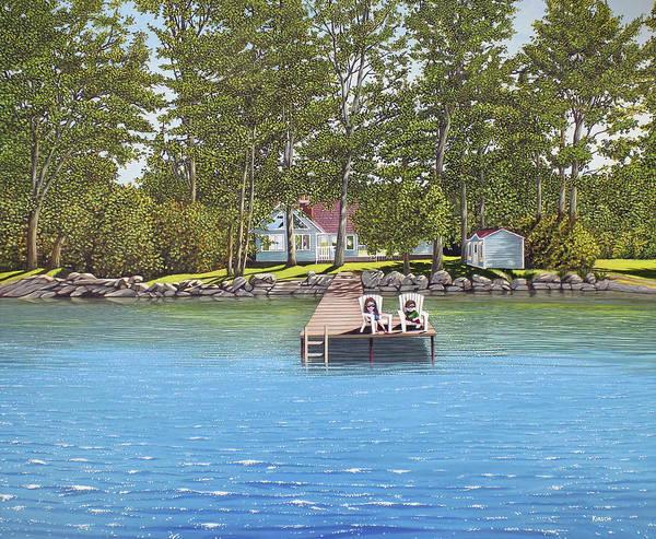 Painting - The Barabara Schwartzberg Cottage by Kenneth M Kirsch