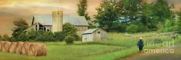 Amish Country Digital Art - The Barefoot Farm Boy by Lori Deiter