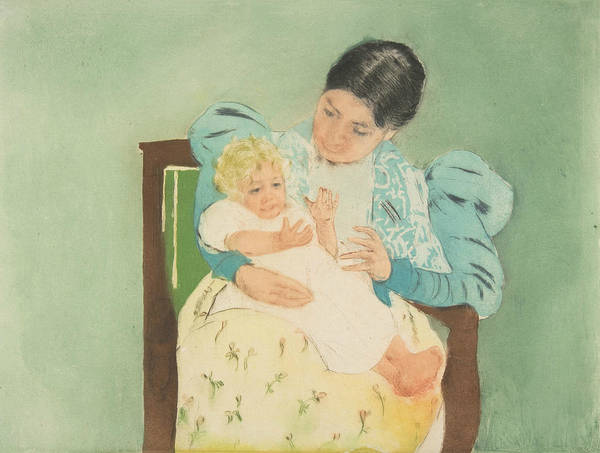 Relief - The Barefooted Child by Mary Cassatt