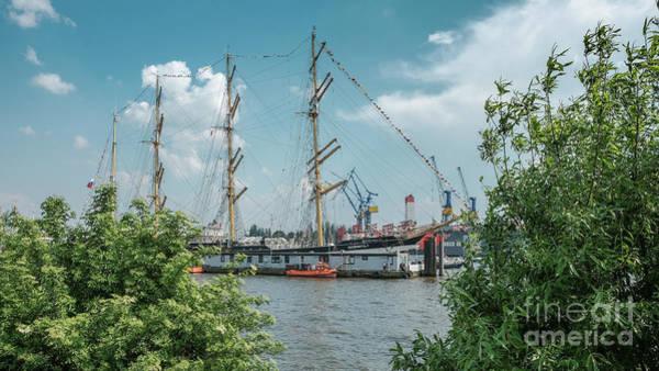 Photograph - The Bark Kruzenshtern In Hamburg by Marina Usmanskaya